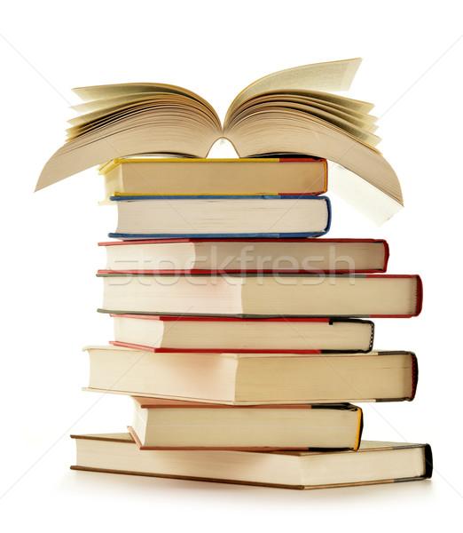 Kitaplar yalıtılmış beyaz eğitim bilim Stok fotoğraf © monticelllo