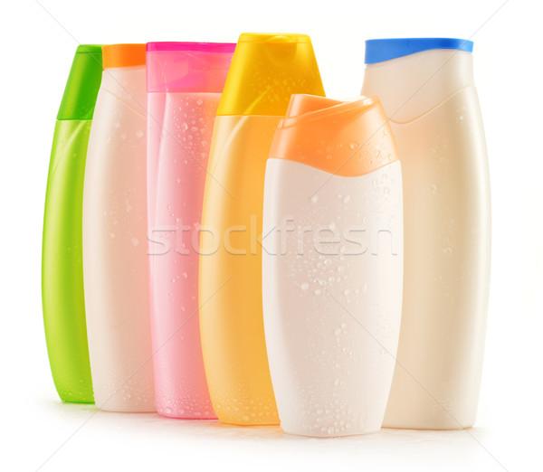 Stock foto: Kunststoff · Flaschen · Körper · Pflege · Beauty-Produkte · Haar