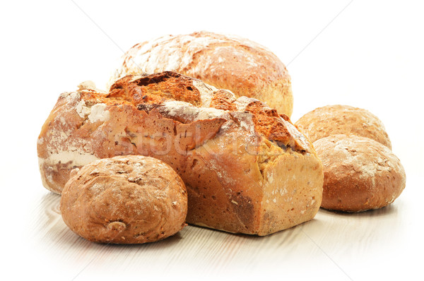Composition with bread and rolls Stock photo © monticelllo