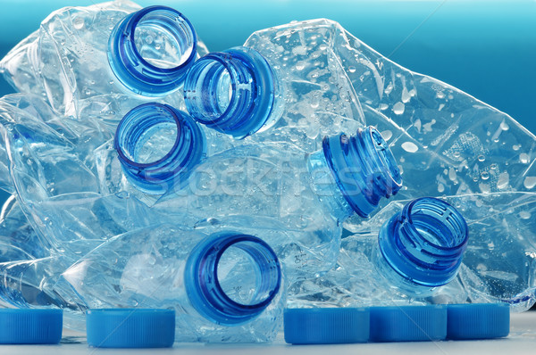 Composition with empty polycarbonate plastic bottles of mineral  Stock photo © monticelllo