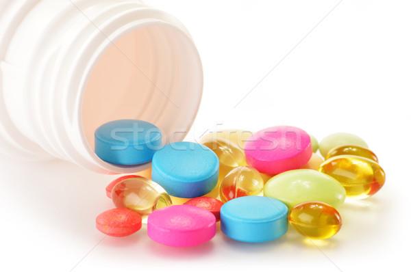Ilaç hapları diyet tıbbi Stok fotoğraf © monticelllo