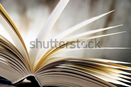 Kitaplar biçim kalp okuma Stok fotoğraf © monticelllo