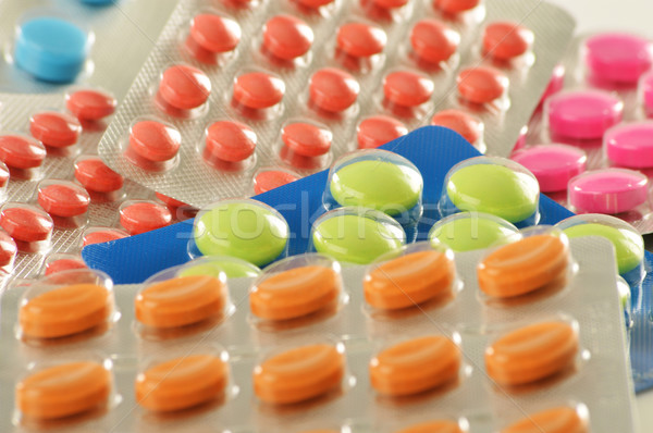 Composition with variety of drug pills Stock photo © monticelllo
