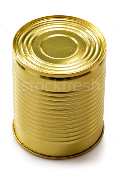 Tin can isolated on white. Processed food Stock photo © monticelllo