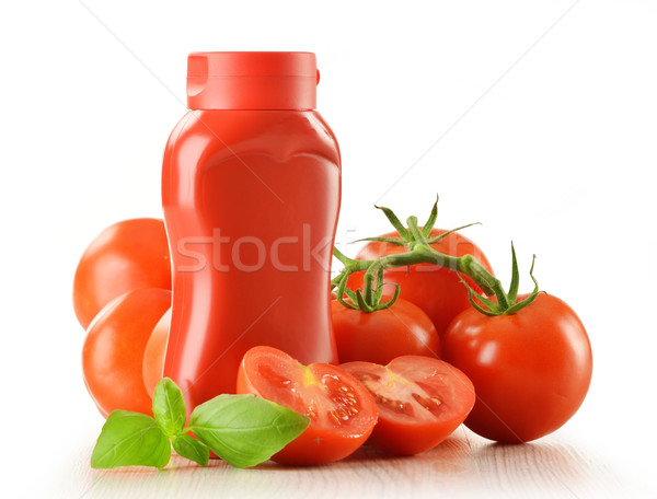 Salsa de tomate frescos tomates aislado blanco alimentos Foto stock © monticelllo