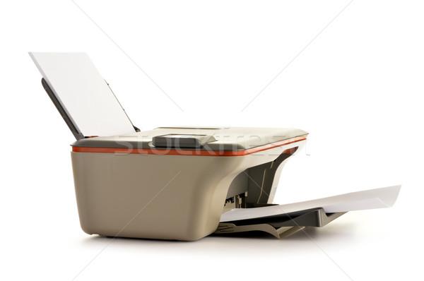 コンピュータ プリンタ 孤立した 白 オフィス 技術 ストックフォト © monticelllo