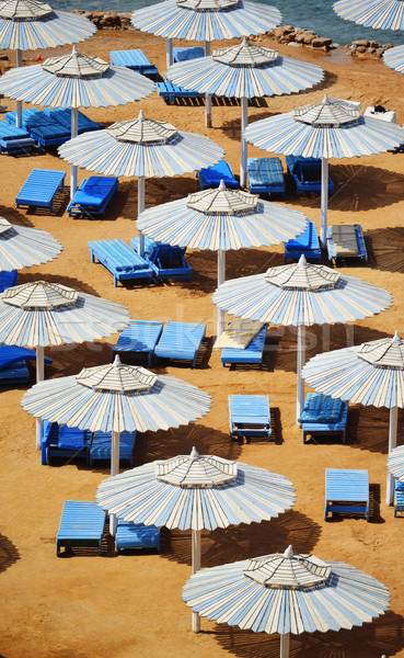Sea beach during hot summer day Stock photo © monticelllo