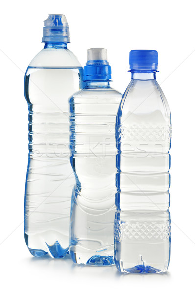 Plástico garrafas água mineral isolado branco natureza Foto stock © monticelllo