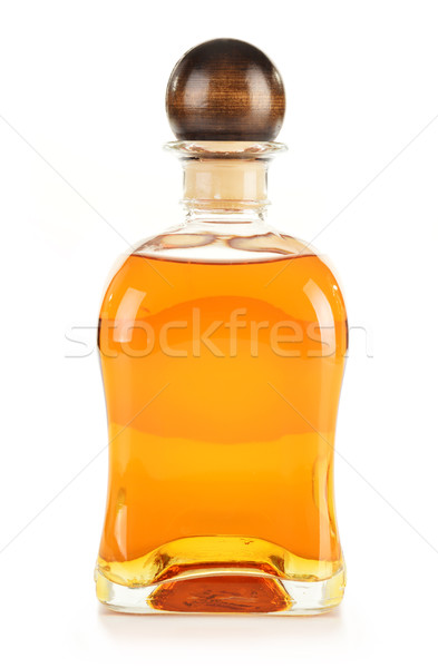 Bottle alcoholic product isolated on white Stock photo © monticelllo