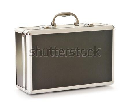 Siyah bavul yalıtılmış beyaz kutu Stok fotoğraf © monticelllo