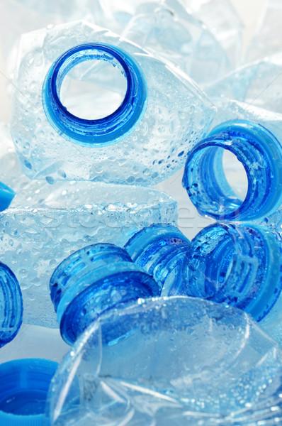 üres műanyag üvegek ásvány ásványvíz víz Stock fotó © monticelllo