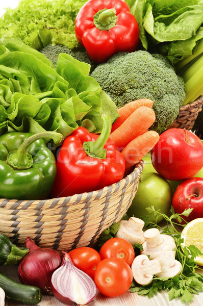 Stock photo: Composition with variety of raw vegetables