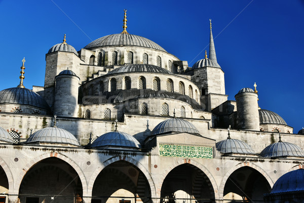 Sultan Ahmed Mosque or Blue Mosque in Istanbul, Turkey Stock photo © monticelllo