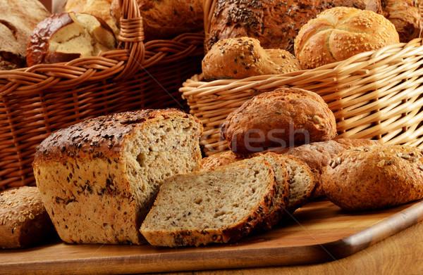 Ekmek sepet çiçek sağlık Stok fotoğraf © monticelllo