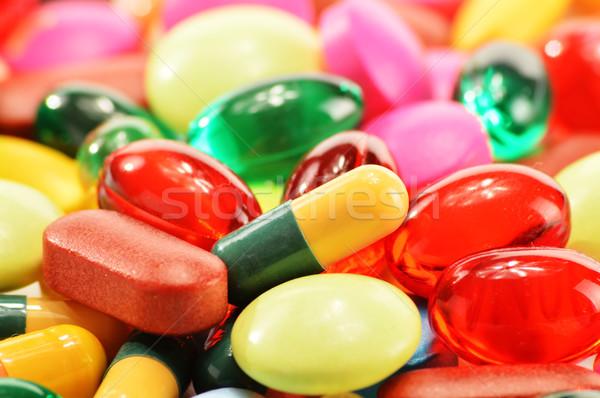 カプセル 薬物 錠剤 医療 自然 ストックフォト © monticelllo