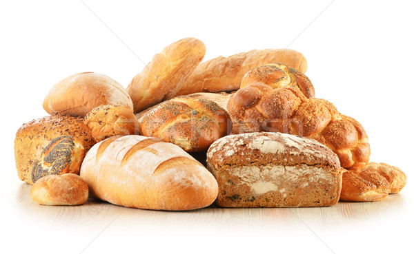 Ekmek yalıtılmış beyaz gıda doğa Stok fotoğraf © monticelllo