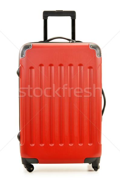 Grande maleta aislado blanco negocios tren Foto stock © monticelllo