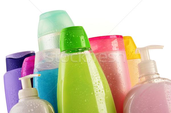 Plastic flessen lichaam zorg beauty producten gezondheid Stockfoto © monticelllo