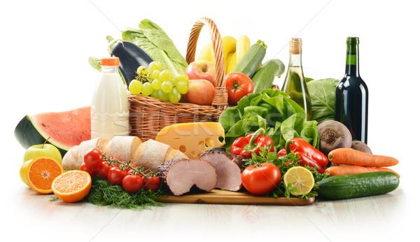 Stock fotó: Választék · élelmiszer · termékek · zöldség · gyümölcsök · hús