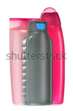 Stock fotó: Műanyag · üvegek · test · törődés · szépségipari · termékek · haj