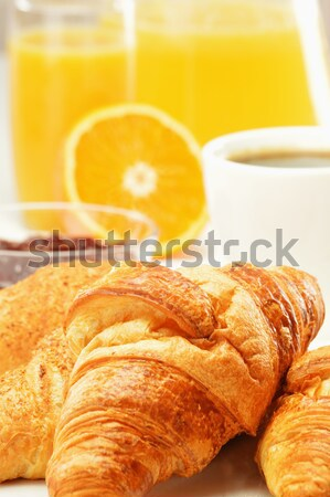 Composition with breakfast on the table Stock photo © monticelllo