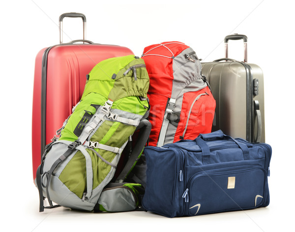 Luggage consisting of large suitcases rucksacks and travel bag Stock photo © monticelllo