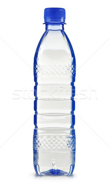 Műanyag üveg ásványvíz izolált fehér víz Stock fotó © monticelllo