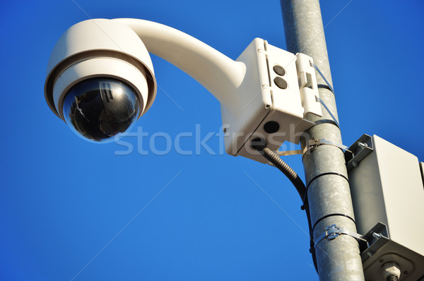 Kuppel Typ Kamera blauer Himmel Himmel Stadt Stock foto © monticelllo