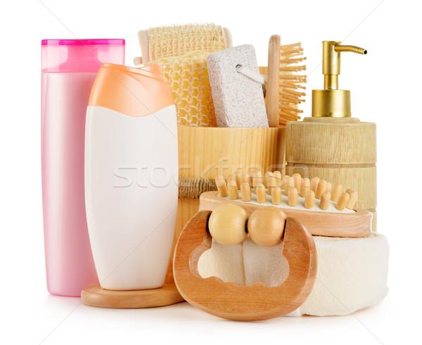 Corps soins produits de beauté isolé blanche Photo stock © monticelllo