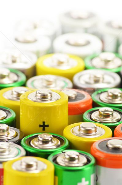 Composition with alkaline batteries. Chemical waste Stock photo © monticelllo