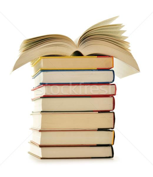 Libros aislado blanco educación ciencia Foto stock © monticelllo