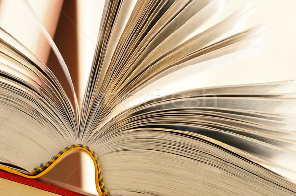 Libros mesa escuela educación escrito maestro Foto stock © monticelllo