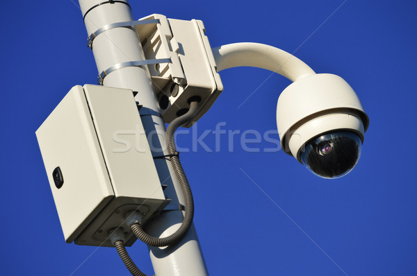 Hi-tech dome type camera over a blue sky Stock photo © monticelllo