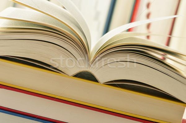 Kitaplar bilim okuma çalışma tutku Stok fotoğraf © monticelllo