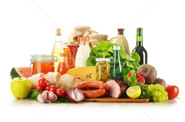 Bakkal ürünleri sebze meyve et Stok fotoğraf © monticelllo