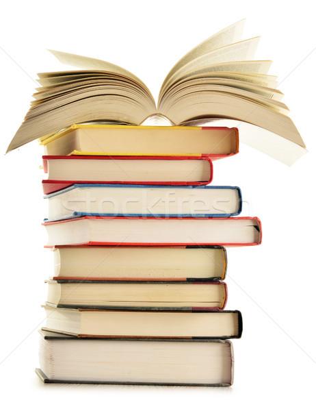 Könyvek asztal iskola oktatás ír tanár Stock fotó © monticelllo
