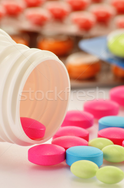 разнообразие наркотиков таблетки диетический медицинской Сток-фото © monticelllo
