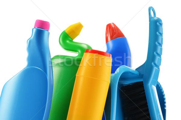 Deterjan şişeler yalıtılmış beyaz kimyasal Stok fotoğraf © monticelllo
