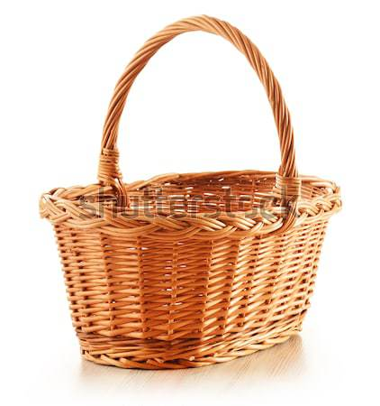 Empty wicker basket isolated on white  Stock photo © monticelllo