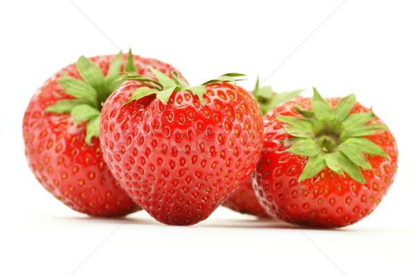 Fraîches fraises isolé blanche fruits santé Photo stock © monticelllo