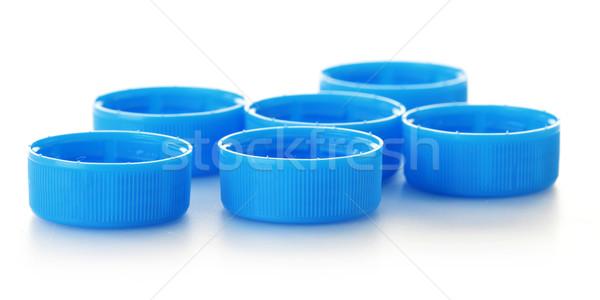 Plastik şişe kapak yalıtılmış beyaz su Stok fotoğraf © monticelllo