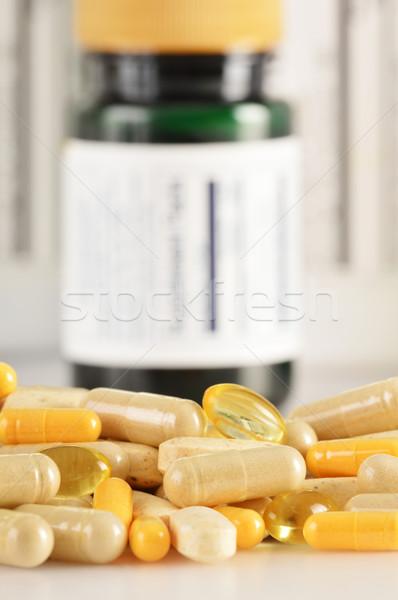 カプセル 薬物 錠剤 食品 自然 ストックフォト © monticelllo