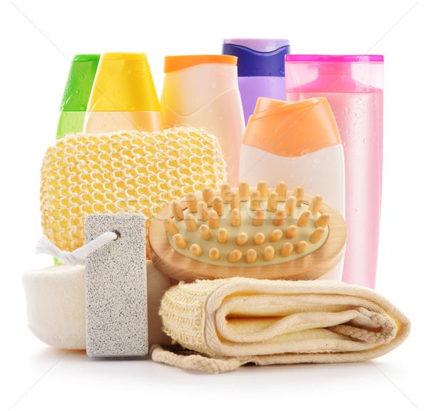 Test törődés kellékek szépségipari termékek izolált fehér Stock fotó © monticelllo