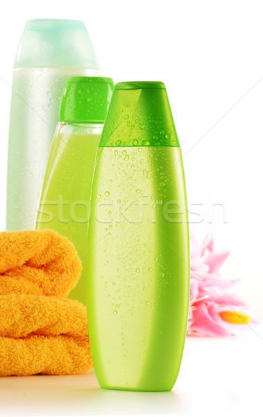 Stok fotoğraf: Plastik · şişeler · vücut · bakım · güzellik · ürünleri · sağlık