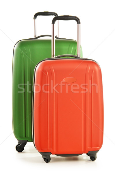 Luggage consisting of large suitcases isolated on white Stock photo © monticelllo