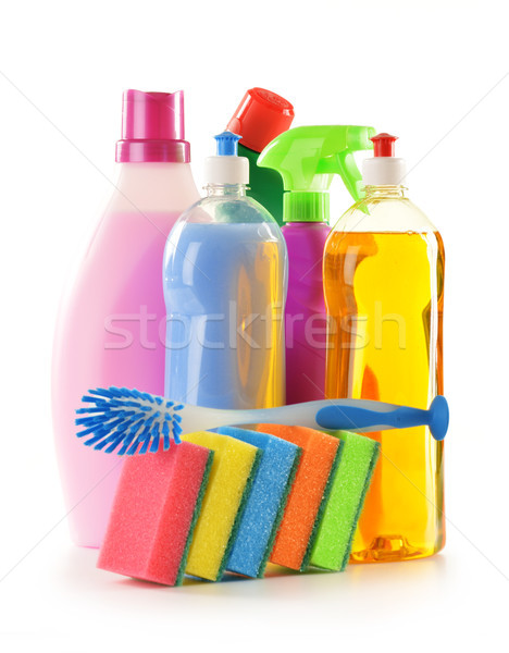 Detergent bottles isolated on white Stock photo © monticelllo