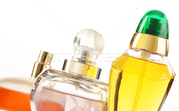 Parfüm üvegek fehér test üveg konténer Stock fotó © monticelllo
