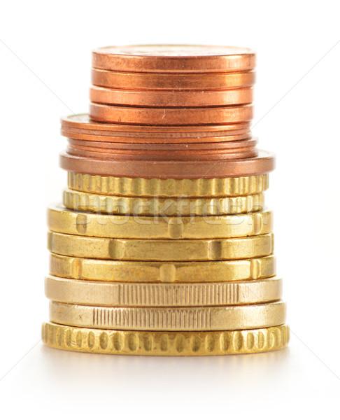 スタック コイン 孤立した 白 ストックフォト © monticelllo