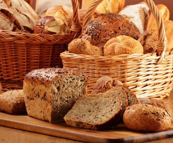 Pão cesta flor saúde Foto stock © monticelllo