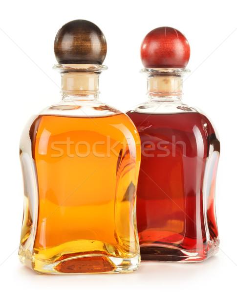üvegek termékek izolált fehér bor üveg Stock fotó © monticelllo